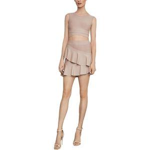 Nwt BCBGMAXAZRIA bandage crop top skirt set L
